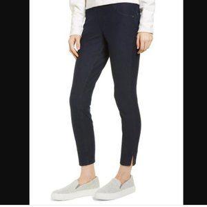 HUE Dark Wash Split-Hem Cropped Denim Leggings XL